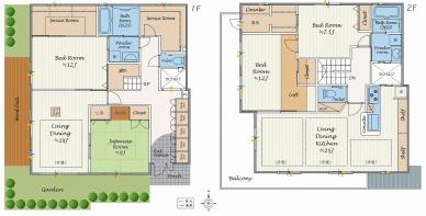 13700万円4LLDDK+2S、土地面積195.93㎡、建物面積179.86㎡